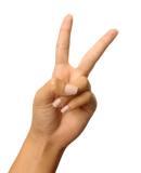 one world week peace symbols v sign